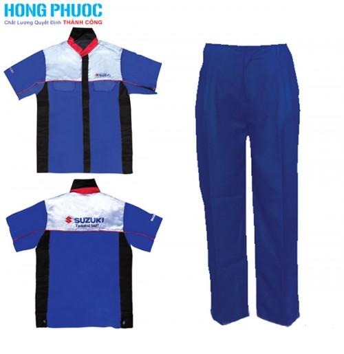 Chất lượng do hãng Hồng Phước sản xuất đồng phục Suzuki