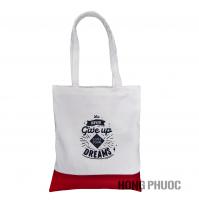 Túi vải trắng đỏ - never