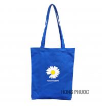 Túi vải xanh dương - hoa cúc